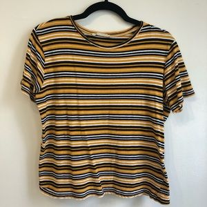 Zara Boxy Striped Tee